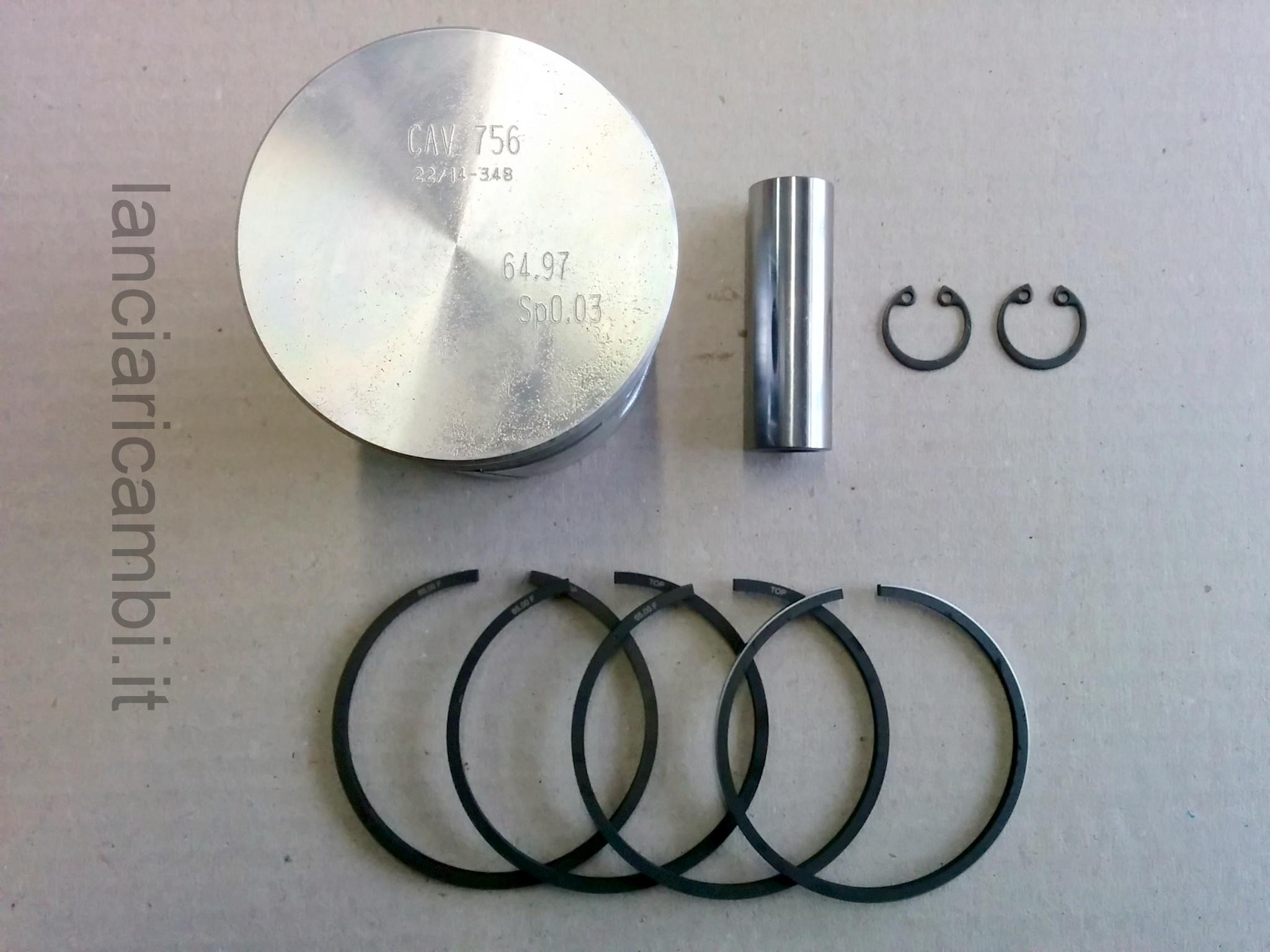 CAV756 - Pistone completo Balilla disponibile nelle misure 65, 65.6, 65.8, 66, 66.4 mm